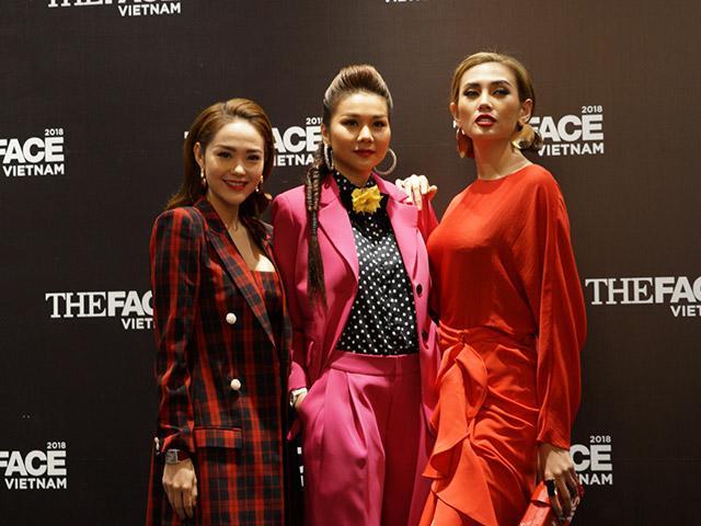 Thanh Hằng, Minh Hằng và Võ Hoàng Yến đồng loạt thắp sáng thảm đỏ The Face 2018