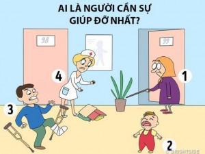Theo bạn, ai là người cần sự giúp đỡ nhất trong bức tranh?