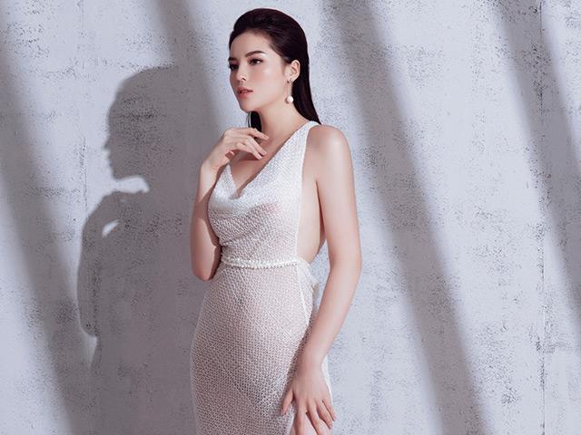 Hoa hậu Kỳ Duyên khoe eo thon, ngực đầy với váy xẻ cao bất tận