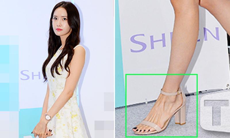 Đôi chân gân guốc chính là khuyết điểm khiến Yoona kém hoàn hảo hơn.