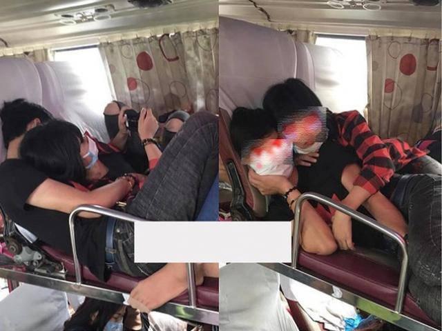 Hành động quá trớn của đôi trẻ trên xe giường nằm khiến nhiều người nhức mắt