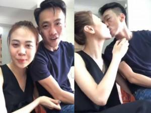 Cường Đôla không ngần ngại hôn, gọi Đàm Thu Trang là vợ trên livestream
