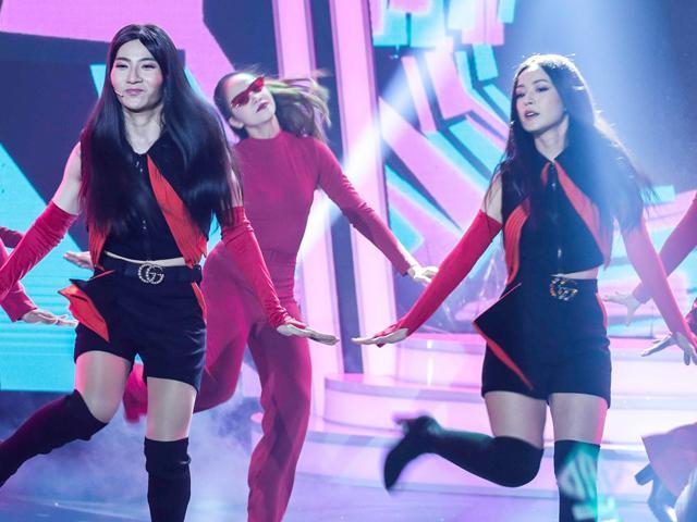 Chi Pu phiên bản ngoại cỡ nhảy cùng Chi Pu thật khiến giám khảo GMTQ phì cười