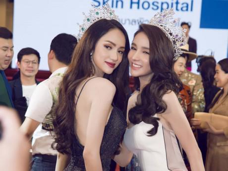 Hoa hậu Hương Giang đọ sắc với hai mỹ nhân chuyển giới nổi tiếng nhất Thái Lan