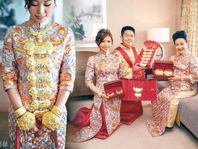 Ngôi sao 24/7: Nghệ sĩ TVB tặng vòng vàng nặng trĩu cổ, trĩu tay cho con dâu trong ngày cưới