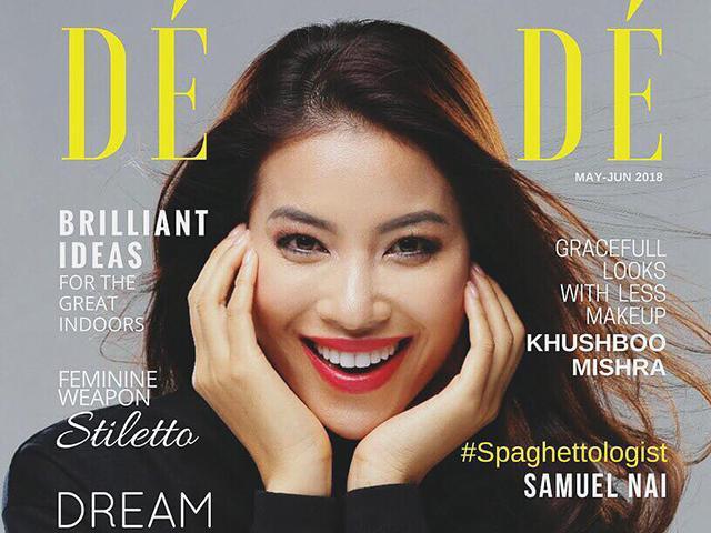 Mặc kệ thị phi, Phạm Hương vẫn tỏa sáng ngời ngời trên bìa tạp chí Pháp