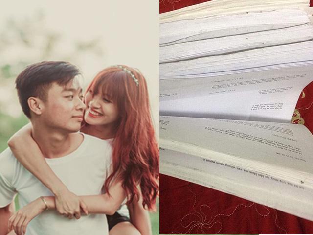Cặp đôi in tin nhắn suốt 2 năm yêu nhau thành 790 trang giấy để lưu giữ làm kỷ niệm