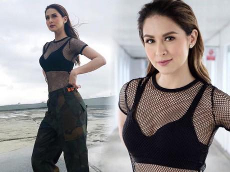 """""""Người đàn bà đẹp nhất Philippines"""" lần đầu diện áo lưới gợi trí tò mò"""