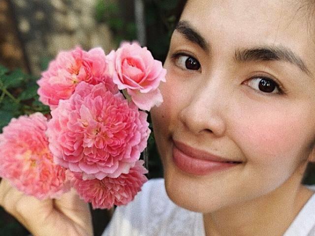 Tăng Thanh Hà khoe mặt mộc đẹp sững sờ, hoa cũng phải chào thua