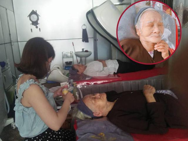 Hai cụ bà 90 tuổi vẫn sành điệu đi spa, thường xuyên đắp mặt dưa leo làm đẹp!