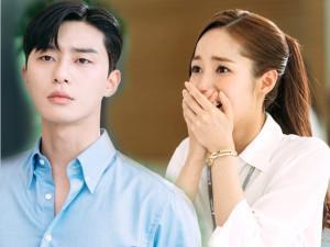"""Park Min Young vừa vắng mặt, sếp cô gặp ngay """"khủng hoảng đầu đời"""" với... cà vạt"""