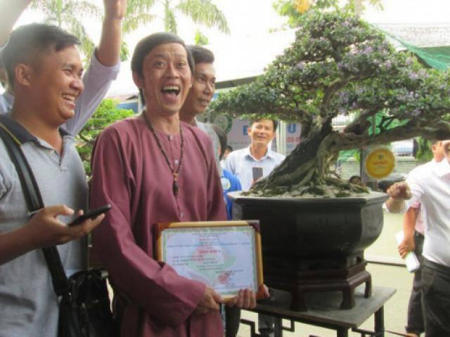 Danh hài Hoài Linh ôm cây cảnh nửa tỷ đi thi, bất ngờ đoạt giải