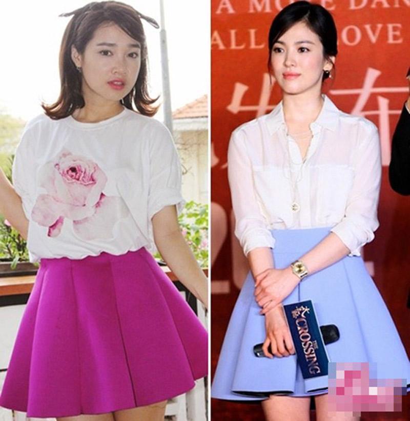 Cách đây từ khá lâu, Nhã Phương đã từng đụng hàng với Song Hye Kyo.