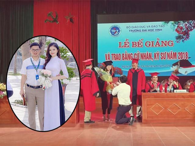 Thầy giáo quỳ gối cầu hôn nữ sinh trong lễ tốt nghiệp: Đúng người sai địa điểm