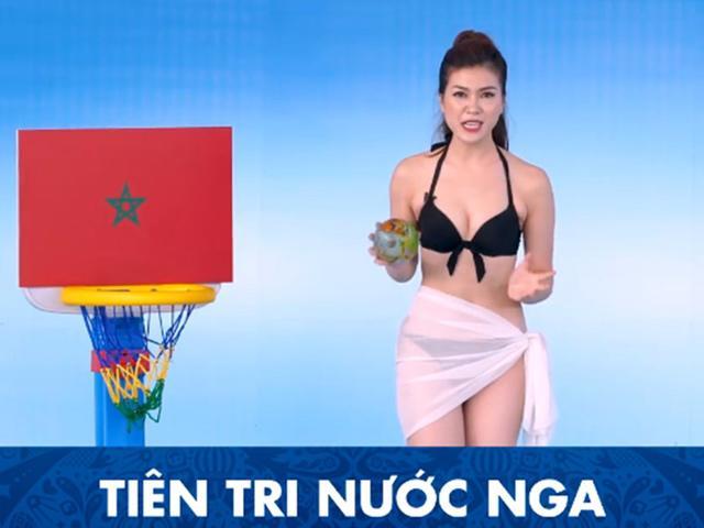 Cộng đồng mạng náo loạn vì MC Việt Nam mặc bikini dẫn World Cup