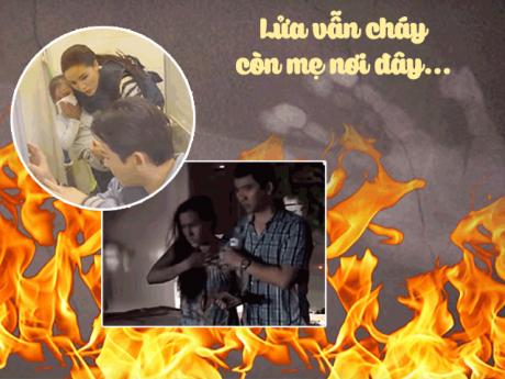 Hình ảnh cháy chung cư Carina gợi lên trong tình huống cứu người của Kỳ Duyên gây xót xa