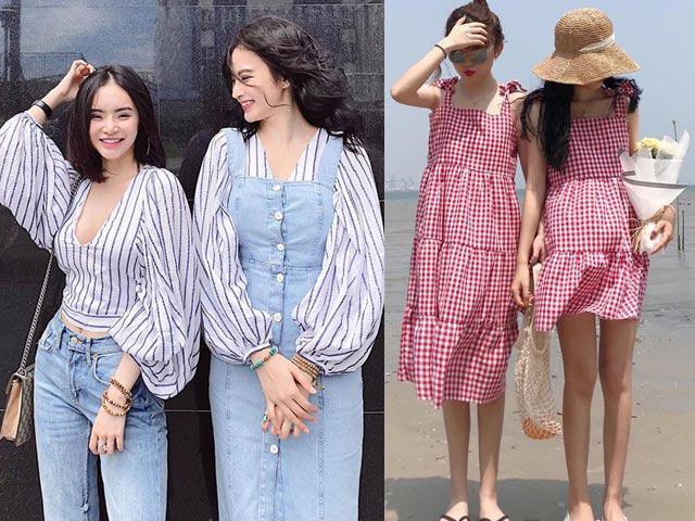 Năm 2018, mặc đồ đôi là phải chất như chị em Angela Phương Trinh