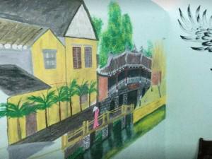 """""""Liều"""" vẽ tranh phong cảnh, rồng chim khắp phòng trọ, anh chàng tưởng bị chủ đuổi đi, ai ngờ..."""