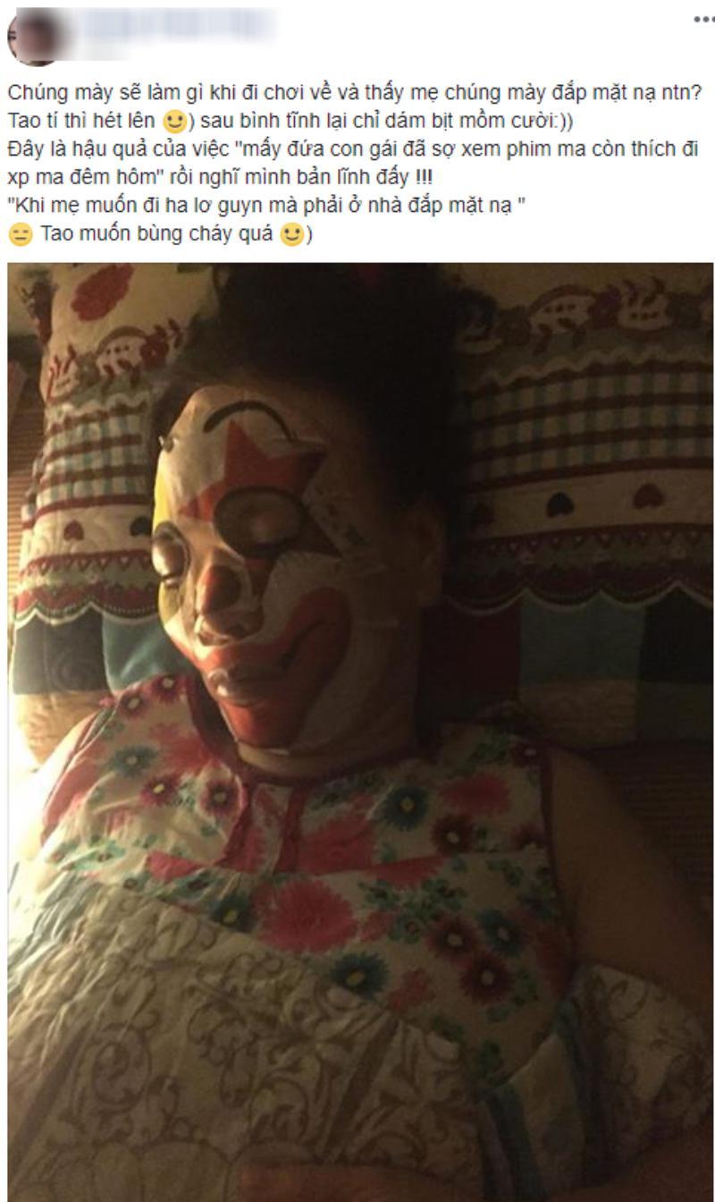 Cộng đồng mạng mới đây đang truyền tay nhau một hình người phụ nữ đắp mặt nạ.