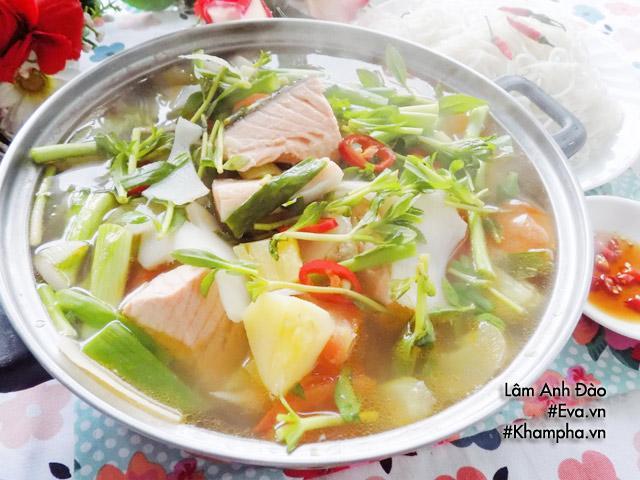 Cách nấu canh chua cá hồi thơm ngon đến giọt cuối cùng