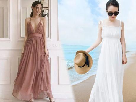 4 điều cần ghi nhớ khi chọn váy maxi đi biển cho nàng nấm lùn