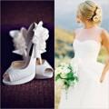 Thời trang - 10 mẫu giày trắng thanh lịch cho cô dâu