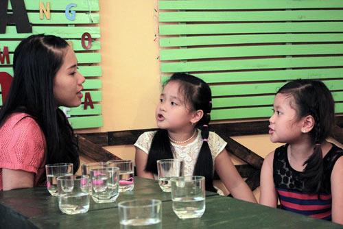 "ghep doi drm: thuy chi ""tai xuat"" giup khanh nhi - 4"