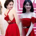Mặc đẹp mỗi ngày - Ngắm làn da 'sứ' của Ngọc Trinh với váy đỏ