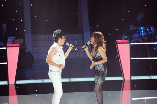 """cat tuong lai gay """"bao""""  the voice - 1"""