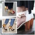 Thời trang - Tô sáng chân với giày gót 'gương'