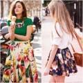 Thời trang - Kìa em, hoa rơi trên chân váy...