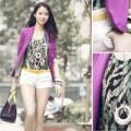 Thời trang - Thời trang dạo phố sành điệu của HHTG Trương Tử Lâm