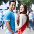 Làng sao - Khánh My đẹp đôi bên Nam vương người Việt toàn cầu