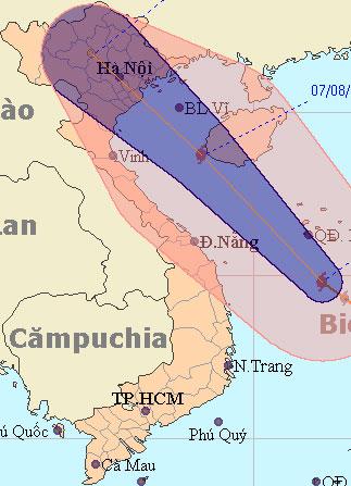 dem 7/8, bao so 6 tan cong cac tinh phia dong bac bo - 1