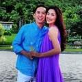 Làng sao - Hà Tăng cùng chồng nghỉ dưỡng bên biển