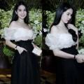 Làng sao - Ngọc Trinh khoe vai trần dự tiệc ở Thái Lan