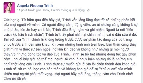 angela phuong trinh xin loi ve trang phuc phan cam - 4