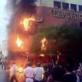 Tin tức - Quán bar ở phố Tây bùng cháy, khách uống bia tháo chạy