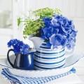 Nhà đẹp - Nhà xinh yêu ngỡ ngàng nhờ sắc hoa xanh
