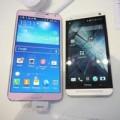 Eva Sành điệu - Galaxy Note 3 hồng đọ dáng cùng HTC One bạc