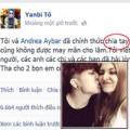 Làng sao - Yanbi thẳng thừng tuyên bố chia tay Andrea