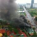 Tin tức - Showroom ô tô ở Hà Nội bốc cháy