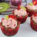 Cupcake dâu tây kiwi dễ làm