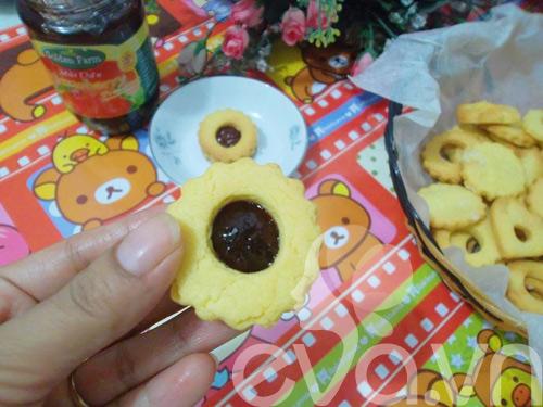 Mát trời làm bánh quy nhân mứt ăn chơi-9