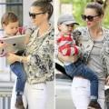 Làng sao - Nhóc Flynn tinh nghịch bên mẹ Miranda