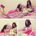 Làng sao - Chị em Angela Phương Trinh gợi cảm trong phòng ngủ