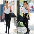 """Thời trang - Miranda Kerr """"lăng xê"""" mốt khoe áo ngực ngoài phố"""