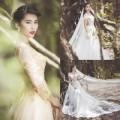 """Thời trang - Lan Hương làm cô dâu """"trốn"""" trong rừng hoang"""