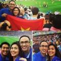 Làng sao - Vợ chồng Hà Tăng bay sang Brazil cổ vũ bóng đá