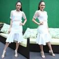 Thời trang - Bảo Anh quyến rũ với xu hướng 'white on white'